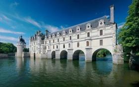 Обои небо, вода, замок, архитектура