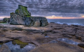 Обои море, пейзаж, закат, France, Brittany, Fort Bloqué