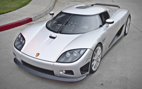 Обои Koenigsegg, silver, supercar, road, front, CCX