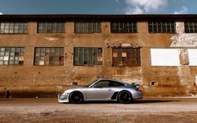 Обои скорость, Porsche, мощь, Машина, спорткар, здание.