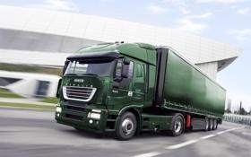 Картинка Скорость, Движение, Зелёный, Iveco, Stralis, 540, Итальянец