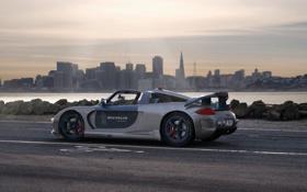 Обои машины, racer, города, tuned, porschce, авто обои, custom