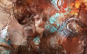 Картинка креатив, арт, мужчина, воображение