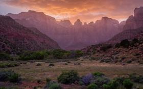 Картинка камни, National Monument, горы, небо, пейзаж, Arizona