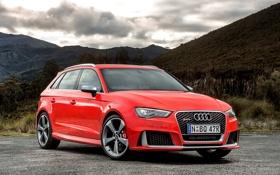 Обои RS 3, Audi, красная, ауди