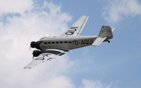 Картинка небо, самолёт, транспортный, Юнкерс Ю-52