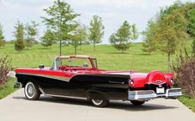 Картинка Ford, Форд, 500, 1957, Fairlane, Фэирлэйн, Sunliner