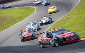 Обои Cadillac, CTS-V, Racing, 2007, несколько