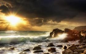 Обои закат, природа, пейзажи