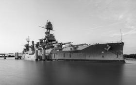 Обои оружие, корабль, Battleship Texas