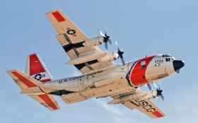 Обои самолёт, авиация, US Coast Guard HC-130