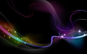 Картинка абстракция, искры, линии, aurora