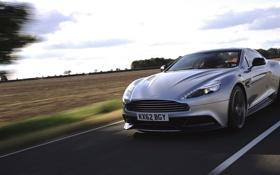 Картинка Aston Martin, Авто, Дорога, Машина, Серый, Серебро, Vanquish