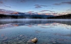 Картинка лес, горы, природа, озеро, отражение