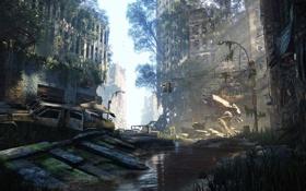 Картинка разрушения, crytek, крайзис, crisis, cryengine 3, пост апокалипсис, crisis 3