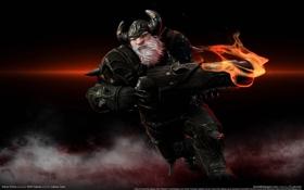 Обои огонь, ствол, гном, karos online