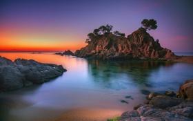 Обои скалы, Palamos, Girona, Cap, берег, природа, Catalunya