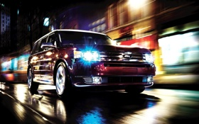 Картинка ночь, Ford, Flex