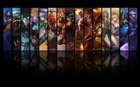 Картинка League of legends, Obsidian Malphite, Brand, Ryze, Surgeon Shen, Black Belt Udyr, Redeemed Riven