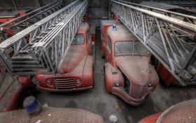 Обои машины, гараж, пожарные