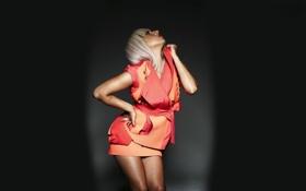 Картинка платье, черный фон, Lady Gaga, Леди Гага