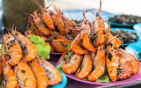 Картинка креветки, морепродукты, shrimp, seafood