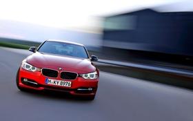 Картинка Красный, Авто, BMW, БМВ, Седан, Фары, Sedan