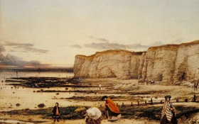 Обои люди, побережье, картина, william dyce, pegwell bay