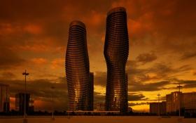 Картинка город, Канада, Онтарио, Миссиссаге, Absolute World Towers