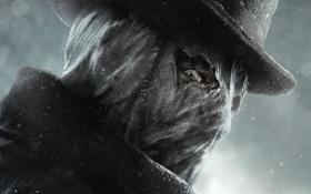 Картинка взгляд, шляпа, маска, маньяк, пальто, Jack the Ripper, Джек Потрошитель