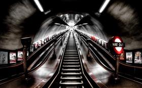 Картинка город, фон, метро