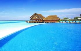 Обои остров, хотел, maldives