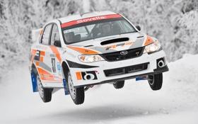 Обои Зима, Авто, Белый, Subaru, Impreza, Снег, wrx
