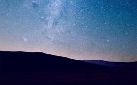 Обои звездное небо, звезды, ландшафт, небо, ночь, горы, плеяда