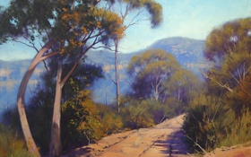 Обои ARTSAUS, АРТ, BLUE MOUNTAINS AUSTRALIA, РИСУНОК