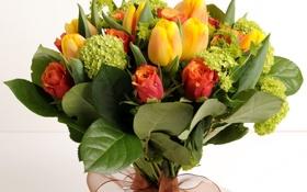 Картинка цветок, цветы, розы, букет, тюльпаны, красивые