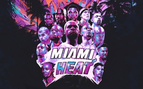 Картинка Майами, Спорт, Команда, Баскетбол, Miami, NBA, Heat
