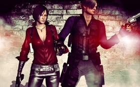Обои пистолет, оружие, gun, pistol, fanart, revolver, Resident Evil 6