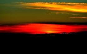 Картинка небо, облака, закат, зарево