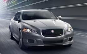Картинка car, Jaguar, speed, XJR