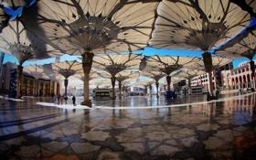 Обои площадь, square, umbrellas, Saudi Arabia, саудовская аравия