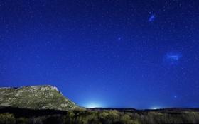 Обои галактика, Магеллановы Облака, звезды