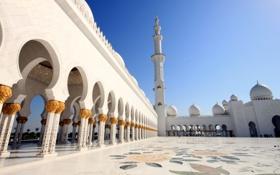 Обои площадь, арки, мечеть шейха зайда, grand mosque