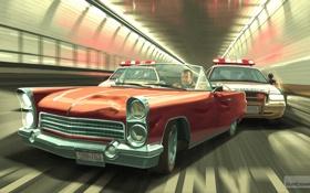 Обои машина, полиция, копы, Grand Theft Auto IV, Нико Беллик.