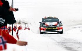 Обои Ford, Зима, Авто, Снег, Спорт, Гонка, День