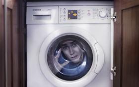 Обои ситуация, человек, стиральная машина