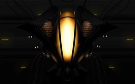 Обои огни, фантастика, робот, Abstract, Ship
