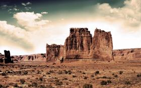Картинка небо, облака, пейзаж, природа, пустыня, sky, desert