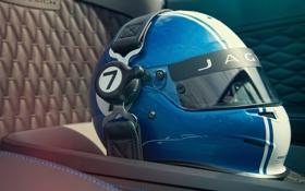 Обои Concept, синий, Jaguar, шлем, race, гоночный, сиденье