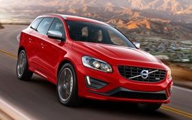 Картинка красный, Volvo, автомобиль, вольво, R-design, XC60